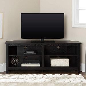 Walker Edison Simple Farmhouse Corner TV Stand