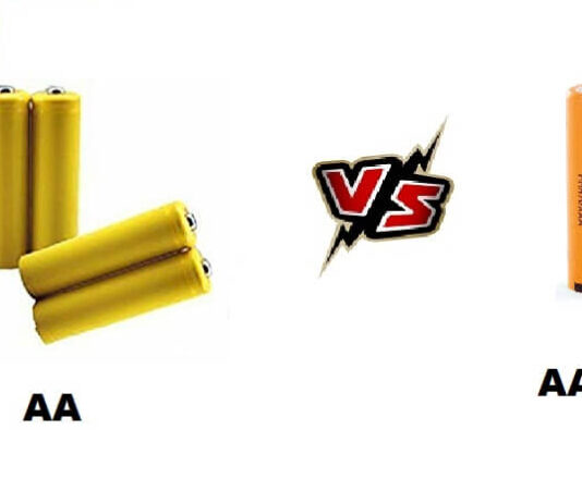 AA vs AAA battery