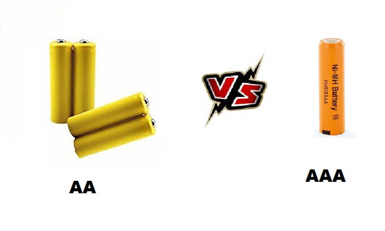 AA vs AAA battery