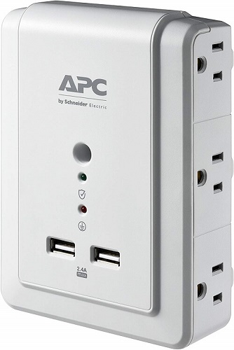 Apc wall mount protector with usb