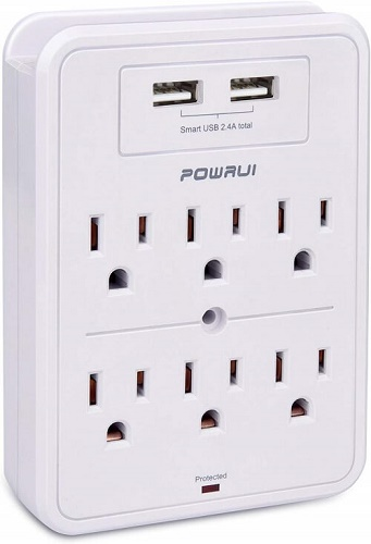 powrui wall mount Voltage surge protector