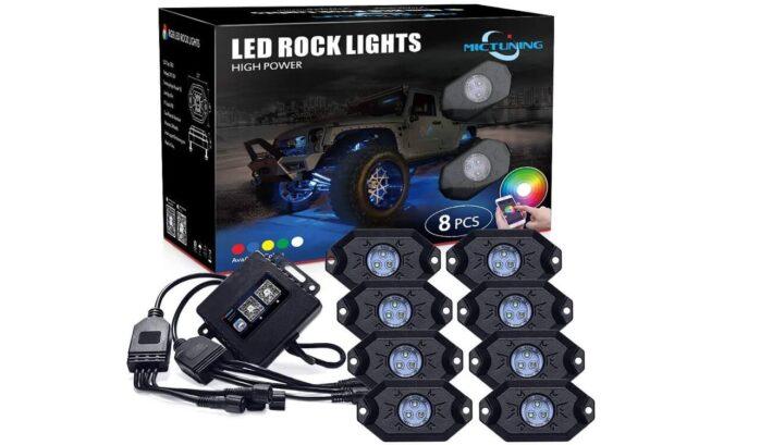 MICTUNING 2nd-Gen RGB LED Rock Lights