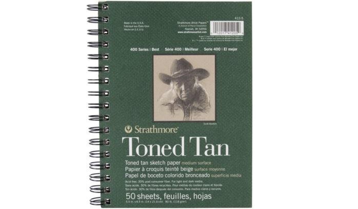 Strathmore Tan Drawing 400 Series sketch pad