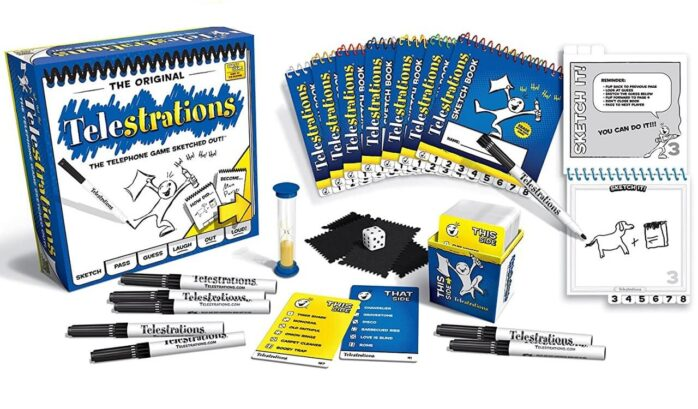 USAOPOLY Telestrations Original Family Board Game