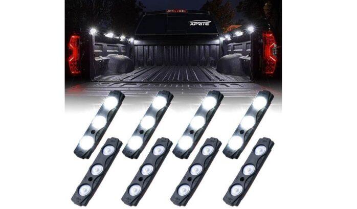 Xprite White Truck Pickup Bed Light Kit