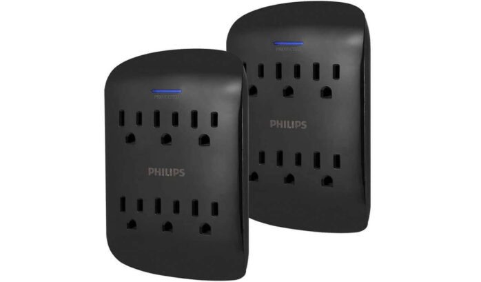 PHILIPS 6-Outlet Surge Protector Tap