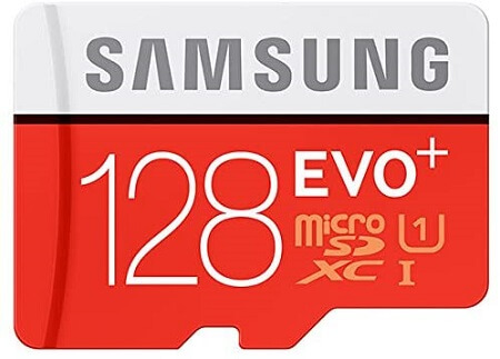 Samsung Evo Plus mc128d micro sd card with adapter