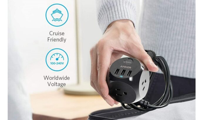 Anker PowerPort Cube Travel Power Strip with USB
