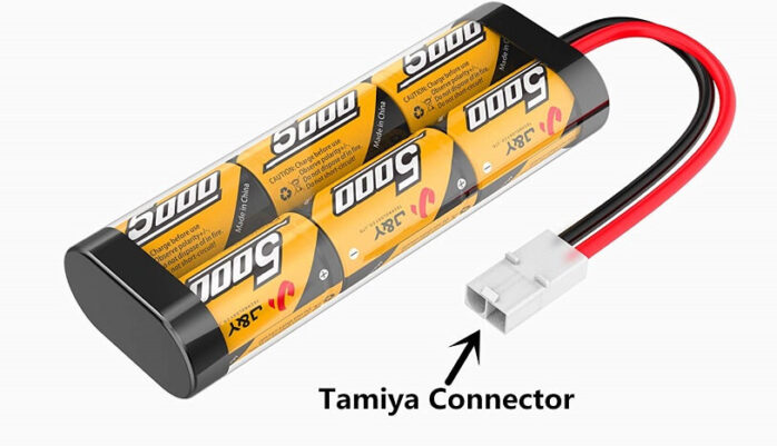 Flylinktech 2 Pack 5000mAh NiMH RC Car Rechargeable Batteries