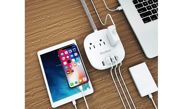 OneBeat Power Strip With Long Extension Cord