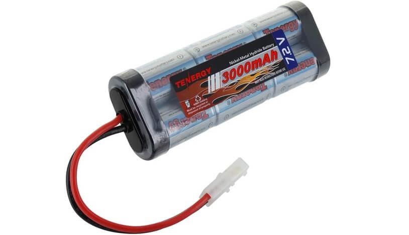 Tenergy High Capacity 6-Cell 3000mAh NiMH Flat Battery
