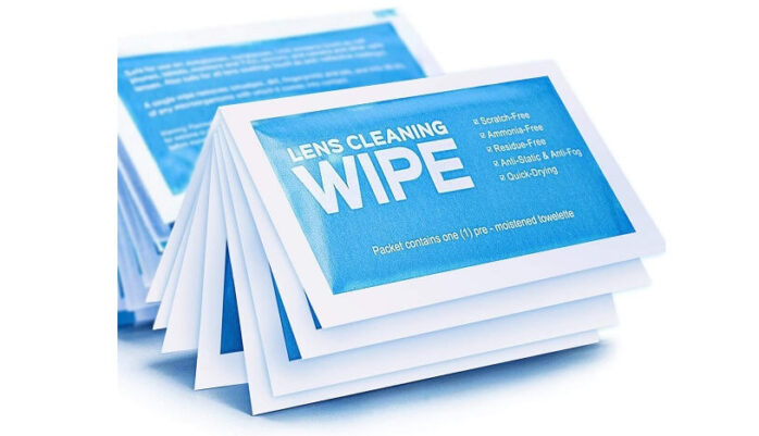 Pre-Moistened Electronic Wipes
