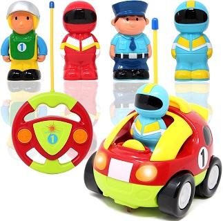 Joyin Toy Cartoon RC Race Car Radio Remote Control with Music and Sound