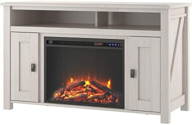 Ameriwood Home Farmington Electric Fireplace Stand For 50 Inch TV