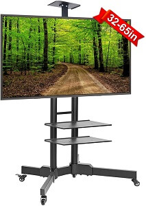 ABCCANOPY TV Cart Rolling Trolley Mount TV Stand