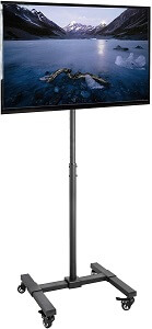 VIVO Mobile TV Display Stand With Wheels